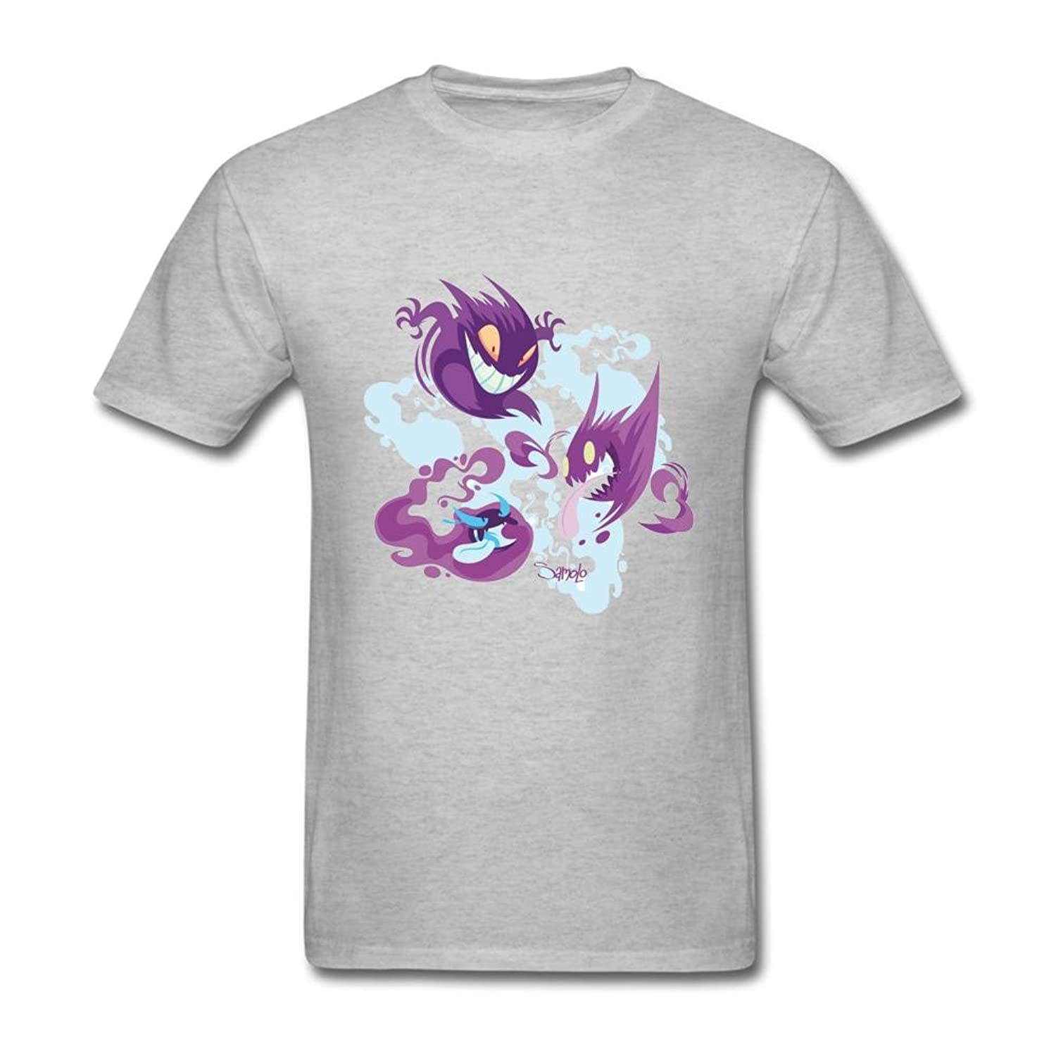 FQYPMC Man 100% Cotton Gastly Haunter and Gengar Tshirts