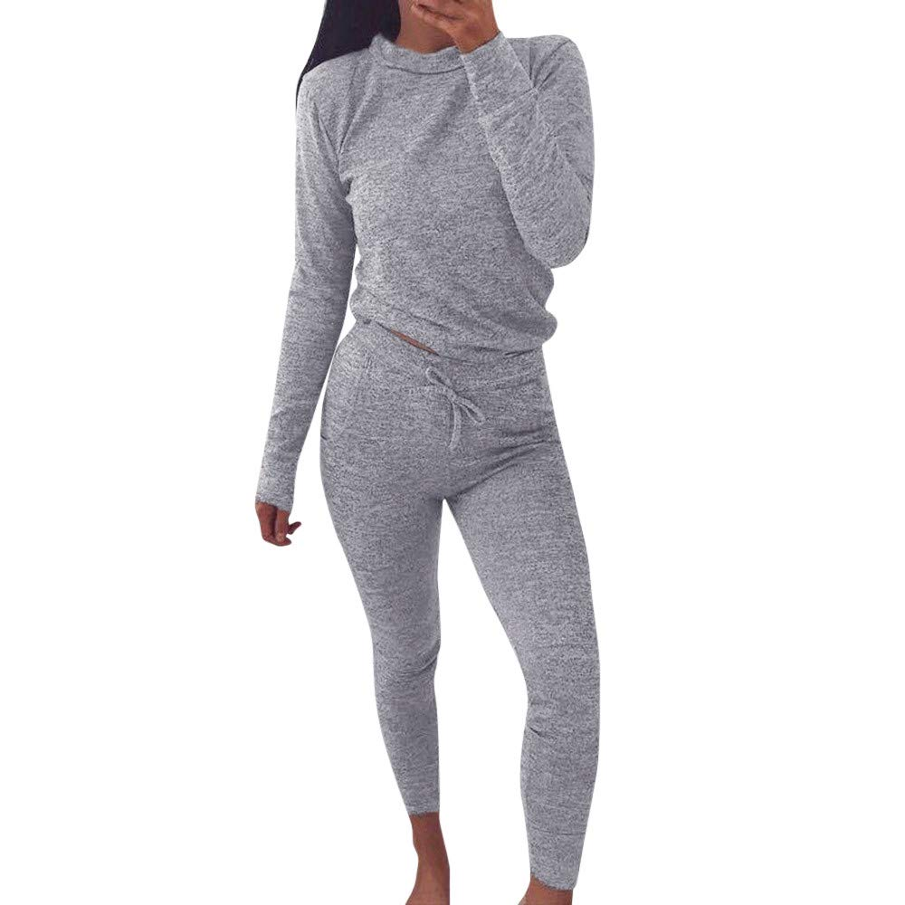 Women Suits Tracksuits, 2 Piece Sweatshirt+Pants Tracksuits Set Ladies Sport Sweat Suit Set Sweatsuits Jinjiums