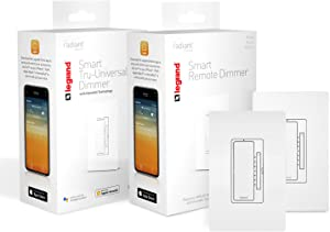 Legrand - OnQ HKRL5060WH Bundled with HKRL60WH Smart 3 Way Dimmer Light Switch, Works with Apple HomeKit, Alexa & Google Assistant, WiFi, No Hub Required, iOS ONLY, White