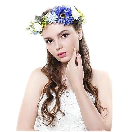 Amazon.com - Joyci Bridal Flower Head Band Photography Wedding ... 9fefe5d253d