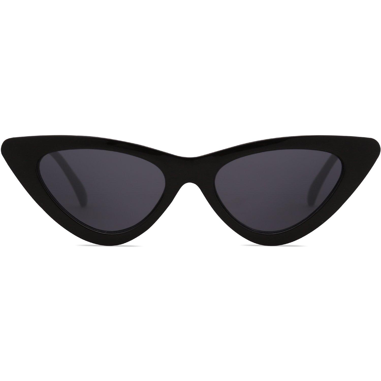 SOJOS Retro Vintage Narrow Cat Eye Sunglasses for women