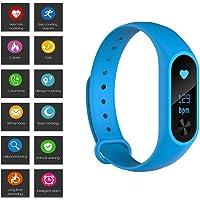 Baoduohui Frecuencia Cardíaca Monitorización De La Presión Arterial Pedómetro M6S Anti-perdida Recordatorio Bluetooth Smart Bracele, Impermeable IP67 Rated Smart Bracelet