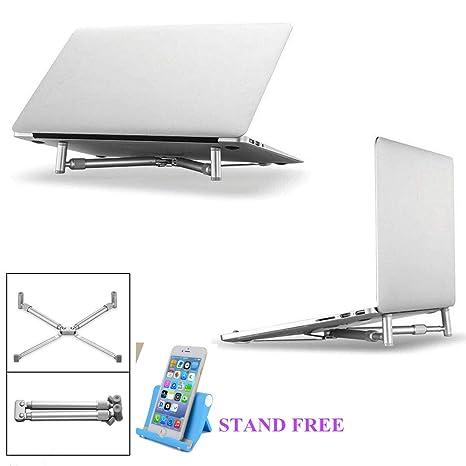BNTTEAM Soporte de portátil ajustable, soporte de ordenador portátil para escritorio de pie, libros
