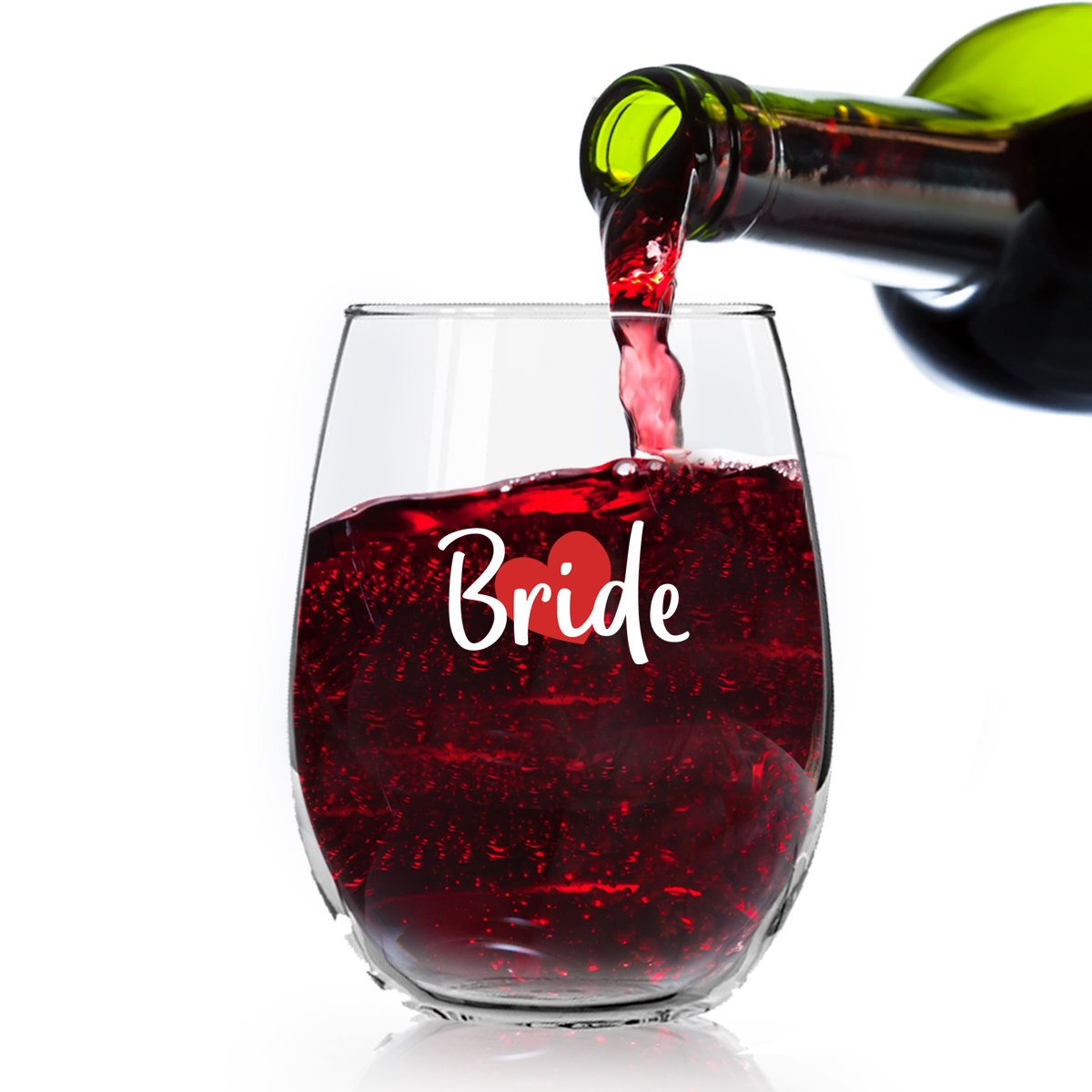 I Do Crew Bridal Party Wine Glasses 15 Ounce Glasses Maid of Honor an Bridesmaid Stemless Wine Glasses for The Bride Tribe Set of 4 Bride Bachelorette Party Made in USA Bridal Party