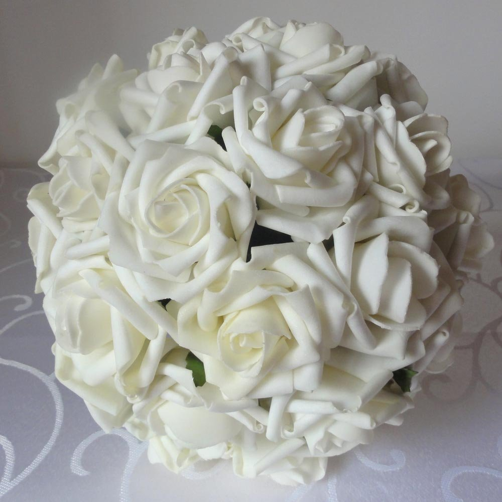 Amazon.com: Lily Garden 2 Dozen Rose Bridal Wedding Bouquets ...