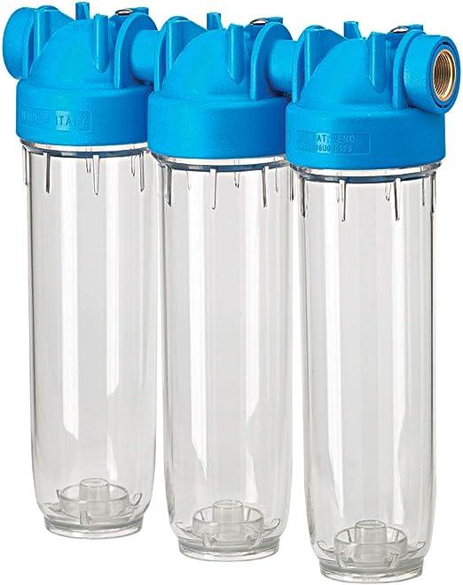 DP 20 Trio 1 OT TS Triple de Carcasa de filtro Casa filtro de agua potable filtro: Amazon.es: Jardín