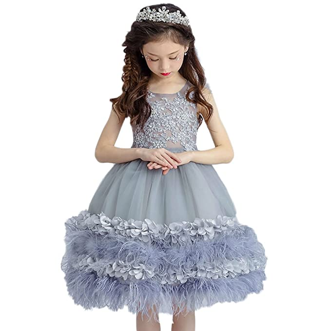 CoCogirls - Vestido - corte imperio - para niña gris 10 años