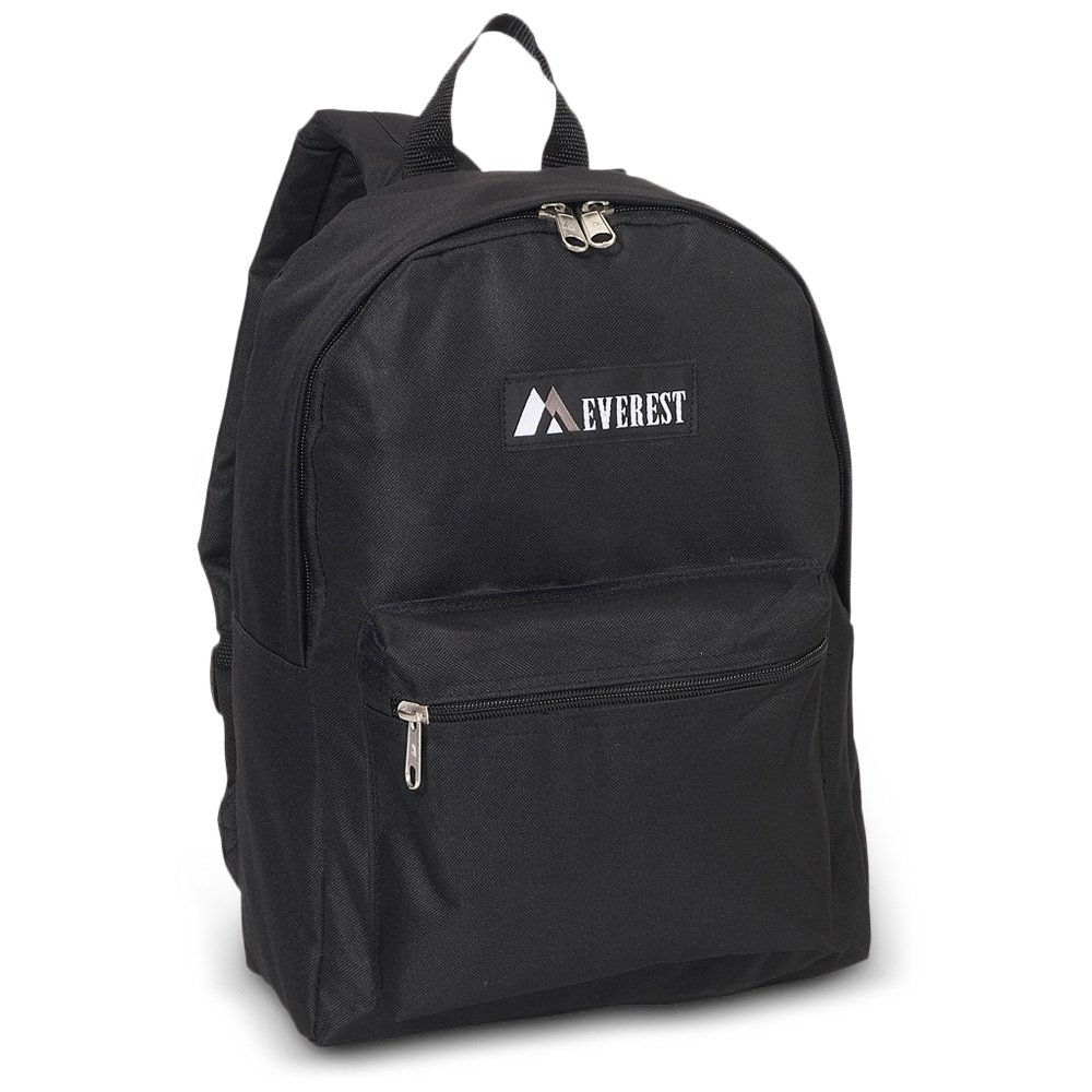 30 Pieces Case Pack Everest Basic Backpack (One Size, Black)