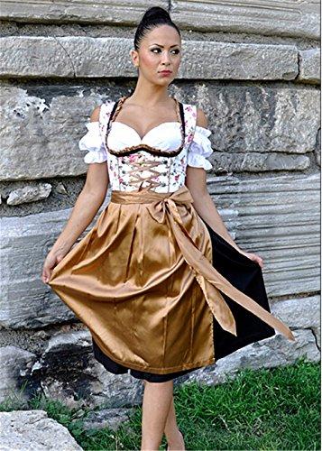 Dirndl 3 tlg.Trachtenkleid Kleid mit Bluse und Schürze,Oktoberfest viele Modelle in verschiedenen Größen (34 - 52) und Farben