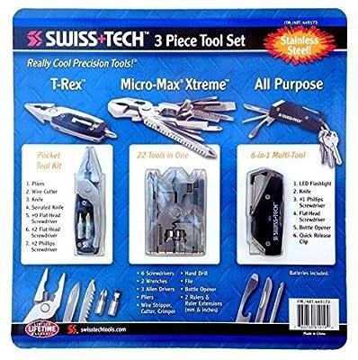 Swiss Tech 3 Piece Tool Set All Purpose, T-rex & Micro Max by Swiss+Tech