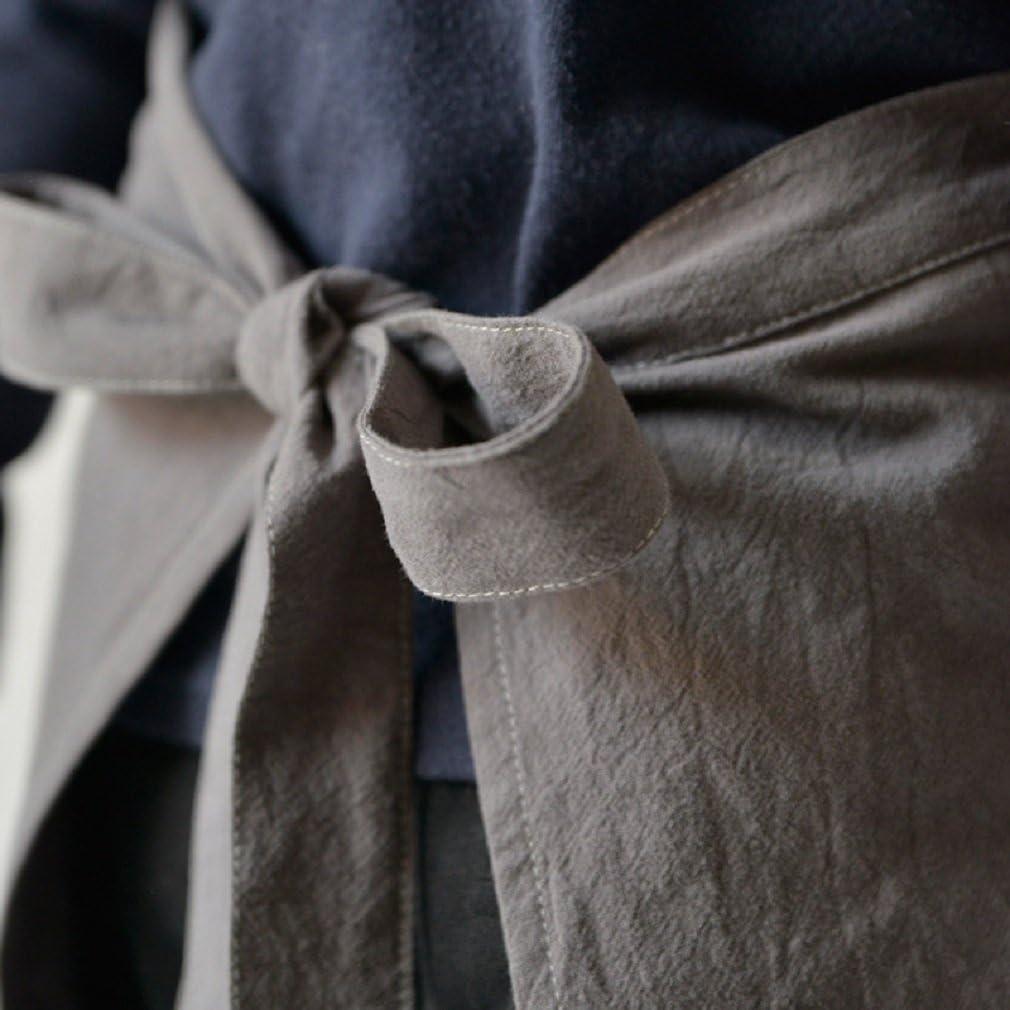FUYUFU Unisexe Enfant Tablier de Peinture en Coton Lin Tablier de Cuisine pour Gar/çon et Fille Tablier de Travail pour Caf/é BBQ Jardinage Peinture S