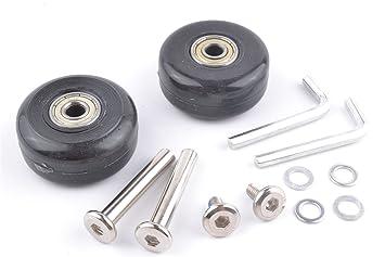 Set de 2 ruedas de repuesto para maletas ejes gbroth onestopdiy OD 43 mm #7: Amazon.es: Hogar