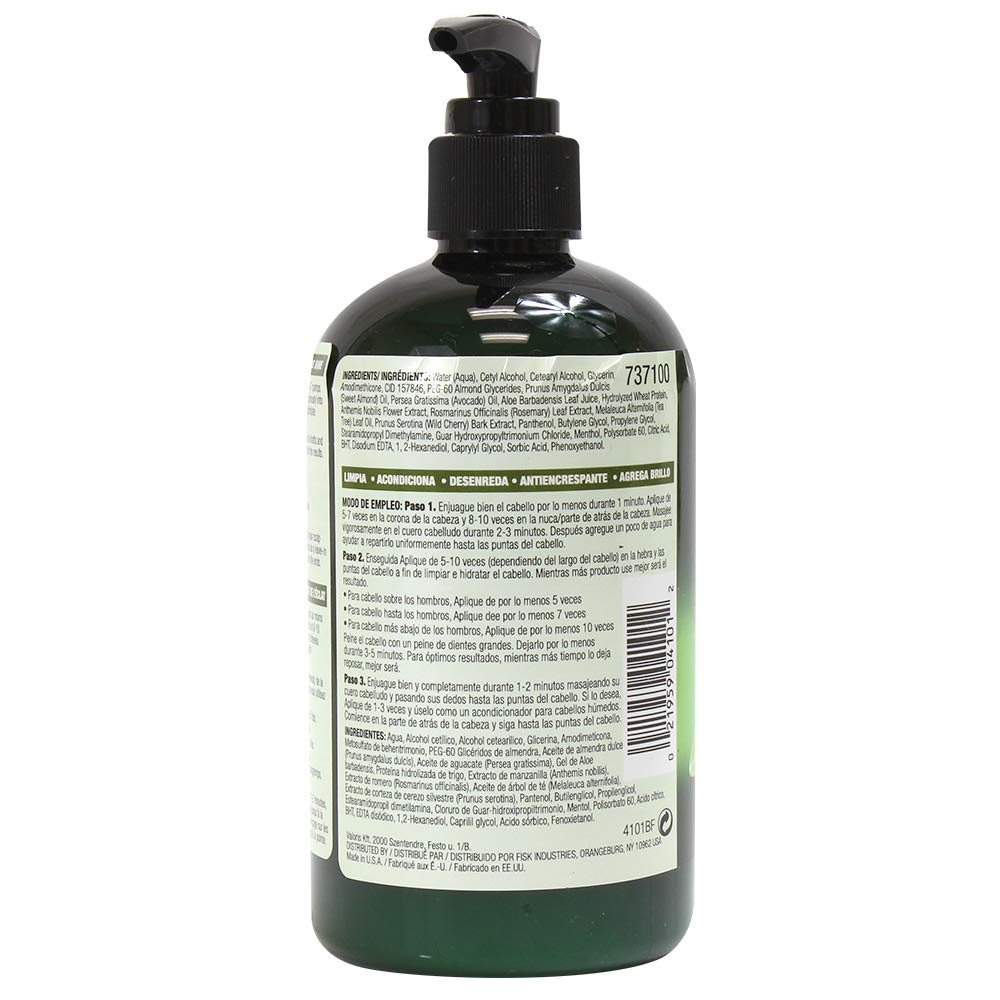 Hair One Tea Tree Oil Cleansing Conditioner for Dry Scalp 12 ounce (6-Pack) by Hair One (Image #3)