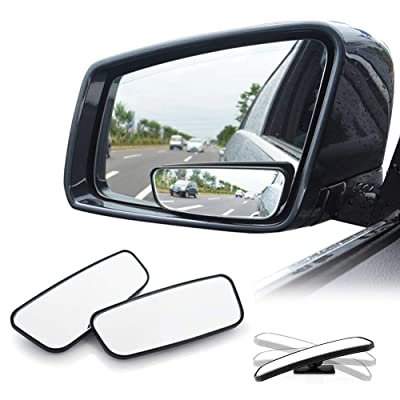 WildAuto Blind Spot Mirrors, Adjustable Car Auxiliary Universal Wide Angle Mirror for Universal Cars (Rectangle-2pcs): Automotive