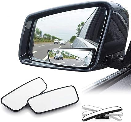 Espejo Ciego Universal para visi/ón Trasera Espejos Traseros Laterales de /ángulo Ancho Ajustables EEEKit Espejo para Punto Ciego para autom/óvil 360 Grados Paquete de 2