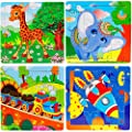 Wooden Jigsaw Puzzles Set For Kids Age 2 5 Year Old Animals Preschool Puzzles For Toddler Children Learning Educational Puzzles Toys For Boys And Girls 4 Puzzles