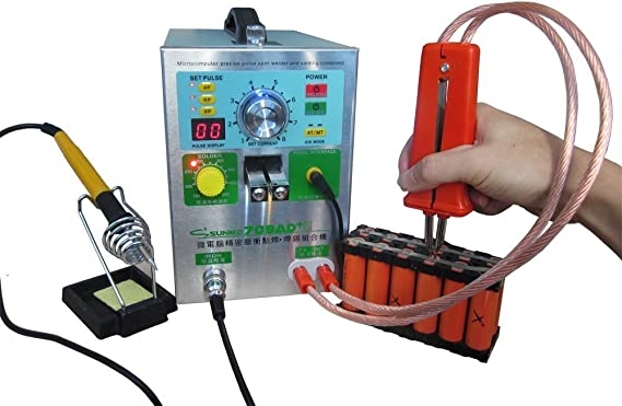 Spot Welder Battery Spot Welding Machine With Removable Pulse Welding Pen Wide Applications Intelligent Time Delay Function Led Display Panel Welding Tools Automotive