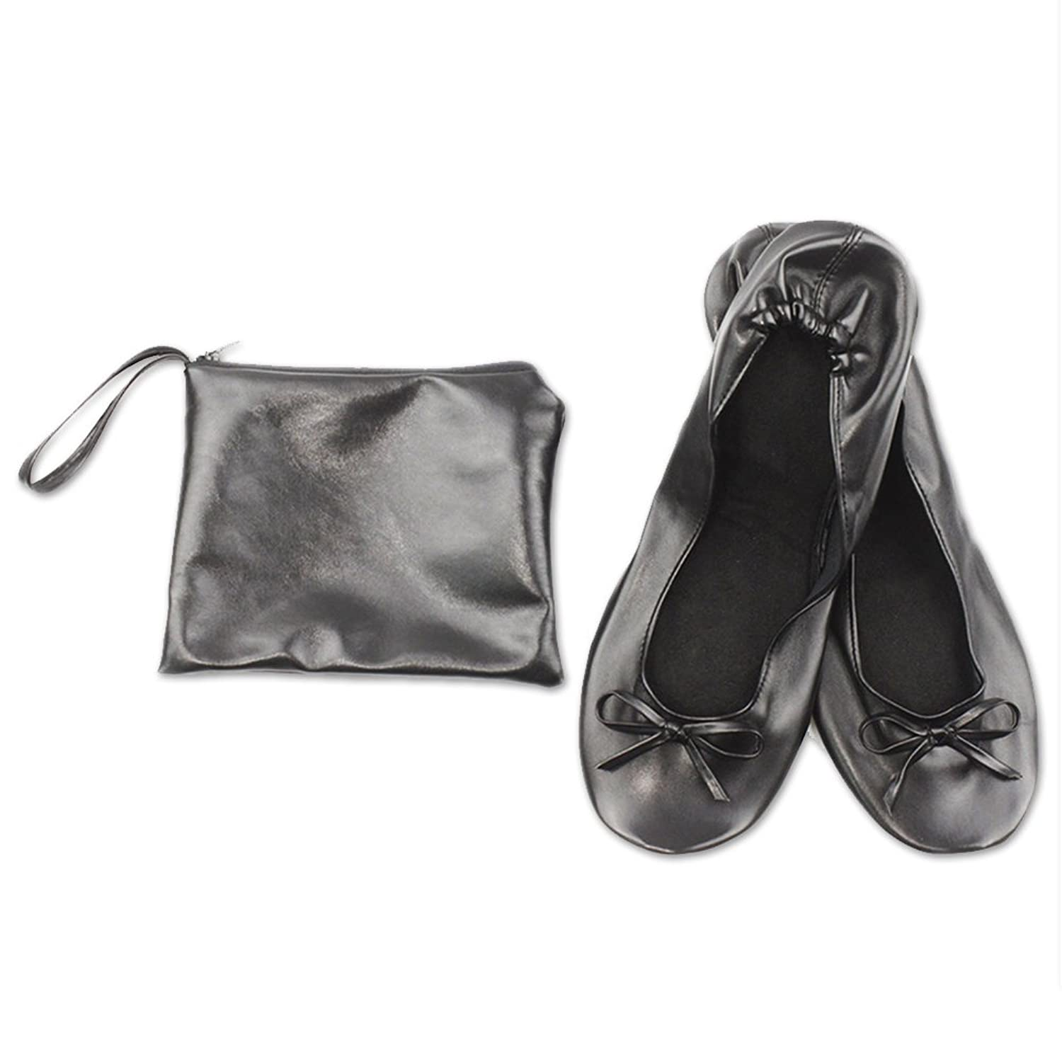 JJOnlineStore Ladies Women Roll Up Foldable Flat Comfort Shoes Fold Up  Pumps Foldable With Carry Bag