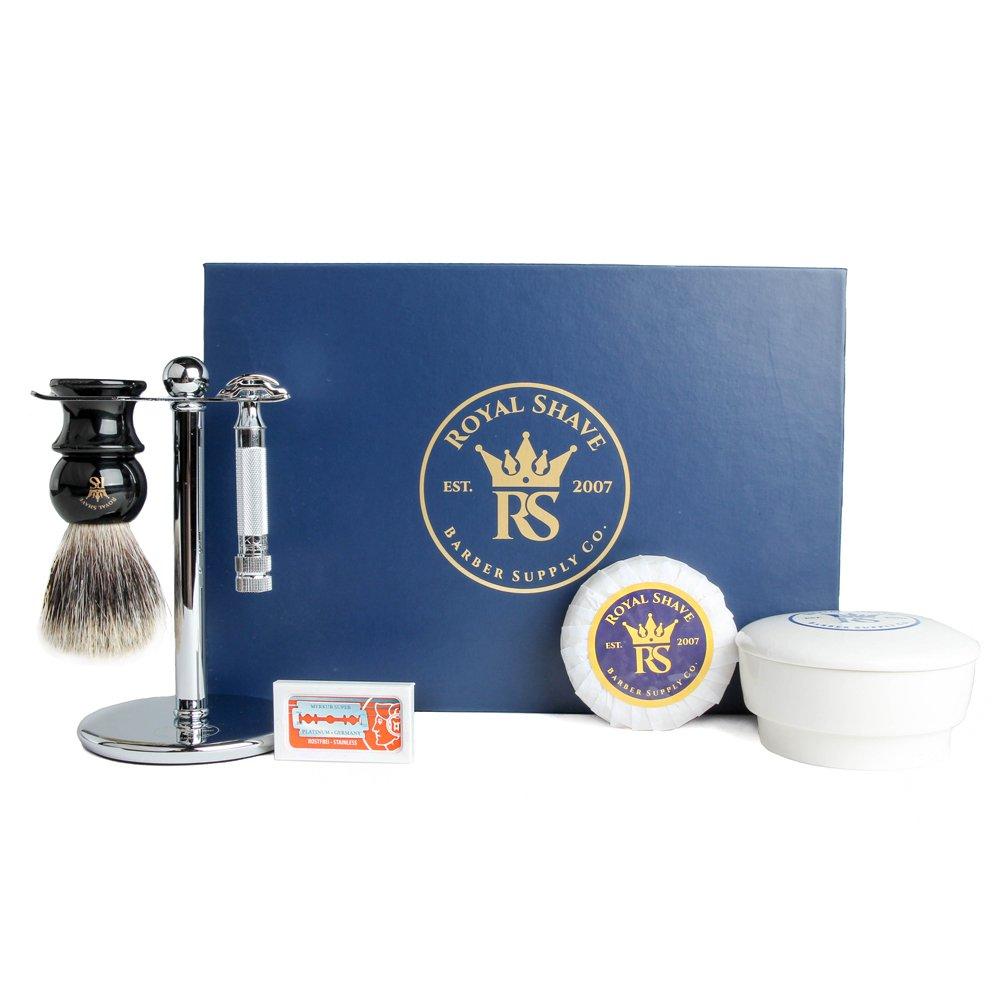 Merkur 34c Wet Shave Set- Razor, Blades, Shaving Brush, Stand, Cream and Bowl