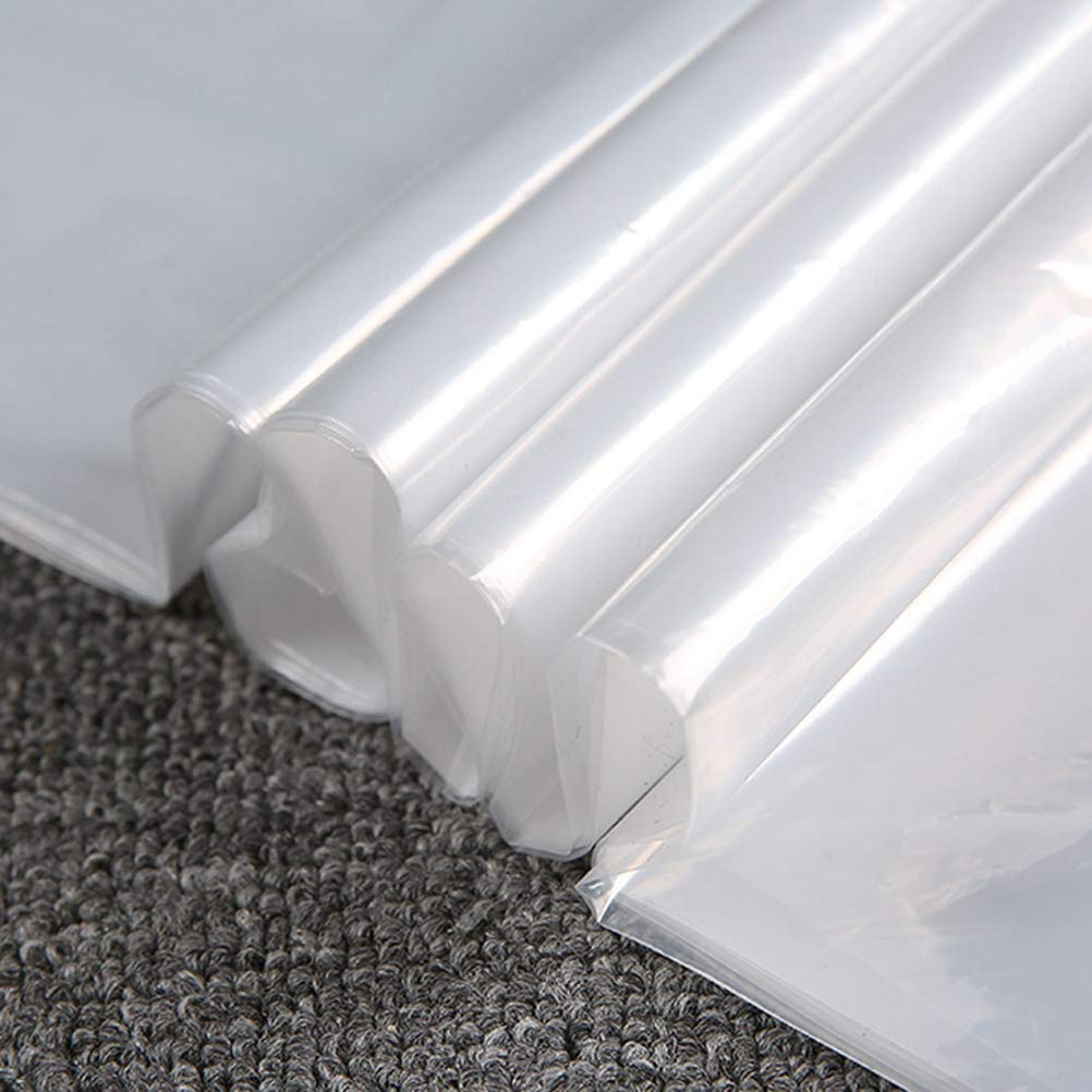 BESTOMZ Funda de Ropa a Prueba de Polvo Impermeables Transparente de PE para Almacenamiento Proteger Trajes Vestidos Viaje Hogar 10 Piezas 60 x 90cm