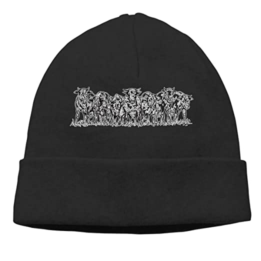 Herd That Cow Beanie Hat Hipster Toboggan Hat Winter Hats Warm Hat Beanies  for Men and d5508caf96c