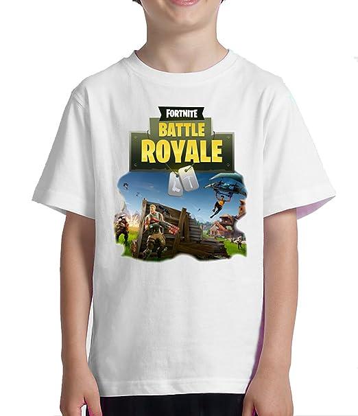 Acokaia Camiseta Fortnite para niño Blanca (10 años)