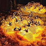 Botrong 5 Meter 20LED Gold Pineapple LED Solar Light Christmas Fairy Party Lights String