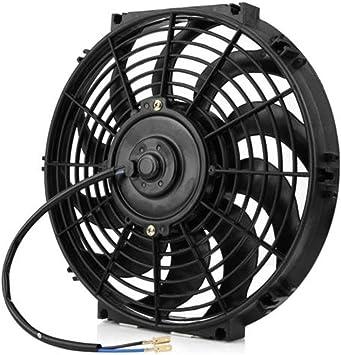 Aire Acondicionado Ventilador de refrigeración Condensador Tanque de Agua 80W Ventilador eléctrico 12V / 24V Accesorios de conversión Radiador eléctrico (Negro) (Togames): Amazon.es: Electrónica