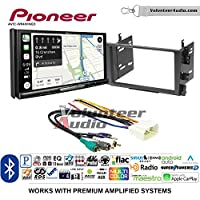 Volunteer Audio Pioneer AVIC-W8400NEX Double Din Radio Install Kit with Navigation, Apple CarPlay and Android Auto Fits 2001-2003 Acura CL and 1999-2003 Acura TL (Factory Amplified)