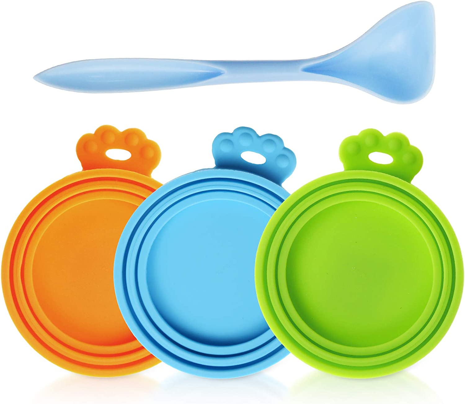 Plaifey Pet Food Can Lids Silicone Dog and cat can Food lids Covers Leakproof Fit Multiple Sizes for Canned Food