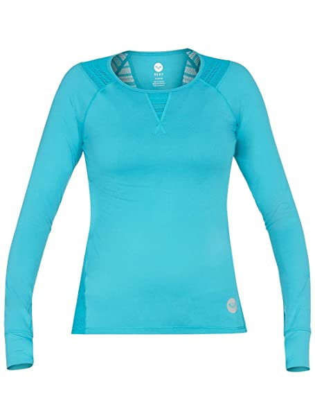 880cd5043a Roxy Juniors Outdoor Fitness Victory LS Top-Aquamarine at Amazon Women's  Clothing store: