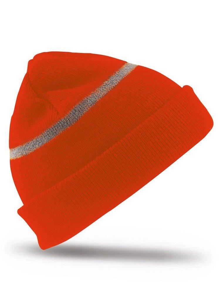 Result Headwear Wasserabweisende Skimütze bis -30°C Kälte RC033J , Farbe:Fluoresent Orange