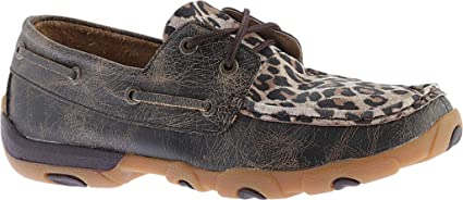 Twisted X Womens Cheetah Print Driving Moccasins Moc Toe Leopard 5.5 M