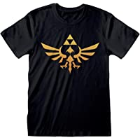 Popgear Zelda Hyrule Logo Men's T-Shirt   Official Merchandise   S-XXL, Switch Gamer Gifts, Crew Neck Graphic Tee…