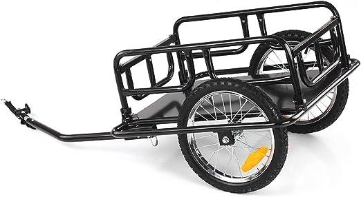 IKAYAA Remolque para Bicicleta Plegable para Carga MAX. 40KG ...