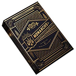 The world's finest, playing cards fit for a king. Monarch Playing Cards look like they belong in a palace. Gold foil surrounds the elegant, navy blue box design. The gold metallic foil is striking, with a vintage, timeless aesthetic. They're absolute...
