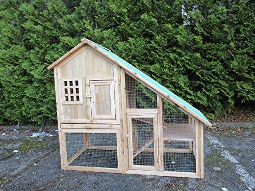 Shuangyang24 - Jaula para conejos, caseta para mascotas pequeñas