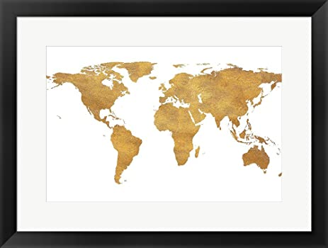 Amazon gold world map gold foil by sd graphics studio framed gold world map gold foil by sd graphics studio framed art print wall picture gumiabroncs Choice Image