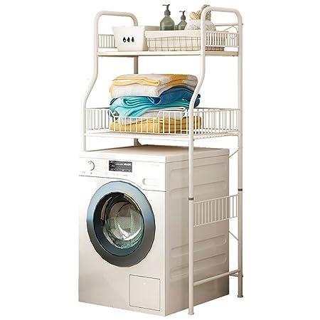 Estante de la lavadora Estante de almacenamiento de baño de acero ...
