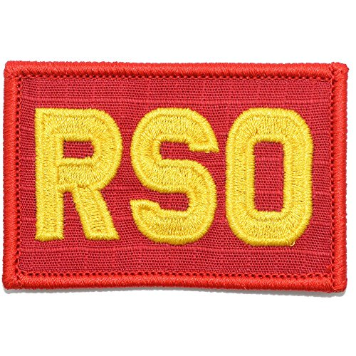 RSO - Range Safety Officer - 2x3 Morale Patch - (Red/Yellow)