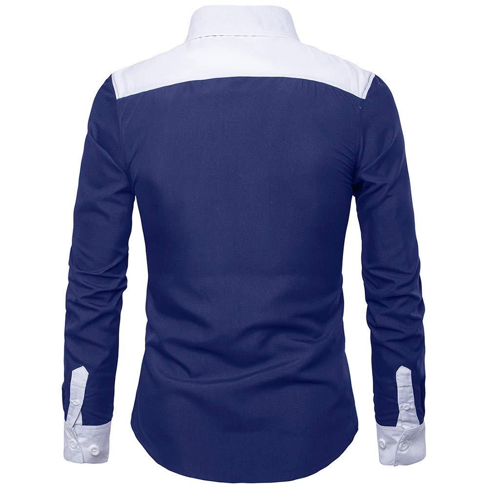 CLOOM Maglietta di Uomo Eleganti Uomo Manica Lunga Oxford Formal Casual Suits Tee Dress Camicetta Top Uomo Business Camicia Casual Uomo Felpe Tumblr Slim Fit Top Camicetta