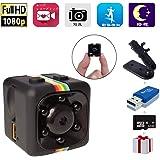 小型カメラ Gupacido 防犯監視カメラ ミニカメラ 隠しマイクロ〔32GB SDカードとリーダーを付〕車用 動体検知 赤外暗視