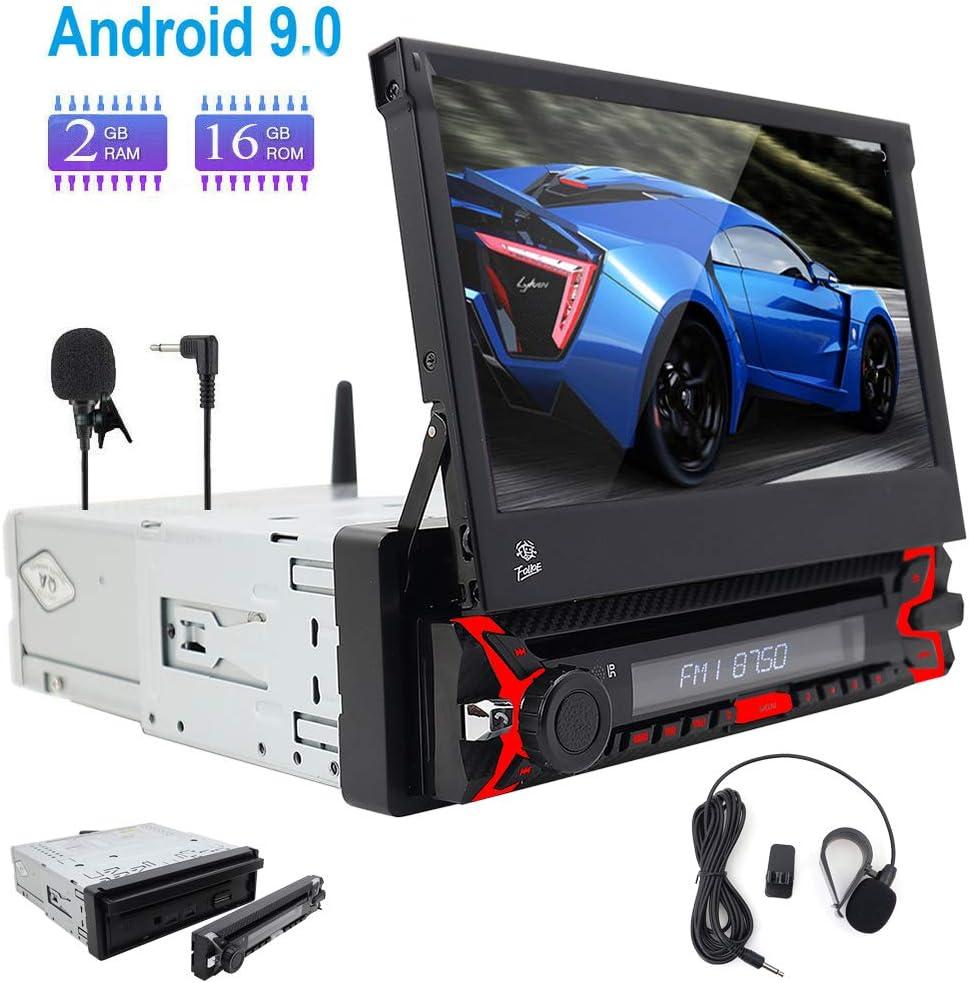 Micrófono Externo Gratuito. Android 9.0 Single 1 DIN Car Stereo Touch Screen Head Unit Autoradio Support Dab Radio WiFi 3G/4G Remote Control Bluetooth GPS Sat Nav USB SWC OBD2 Am/FM Radio