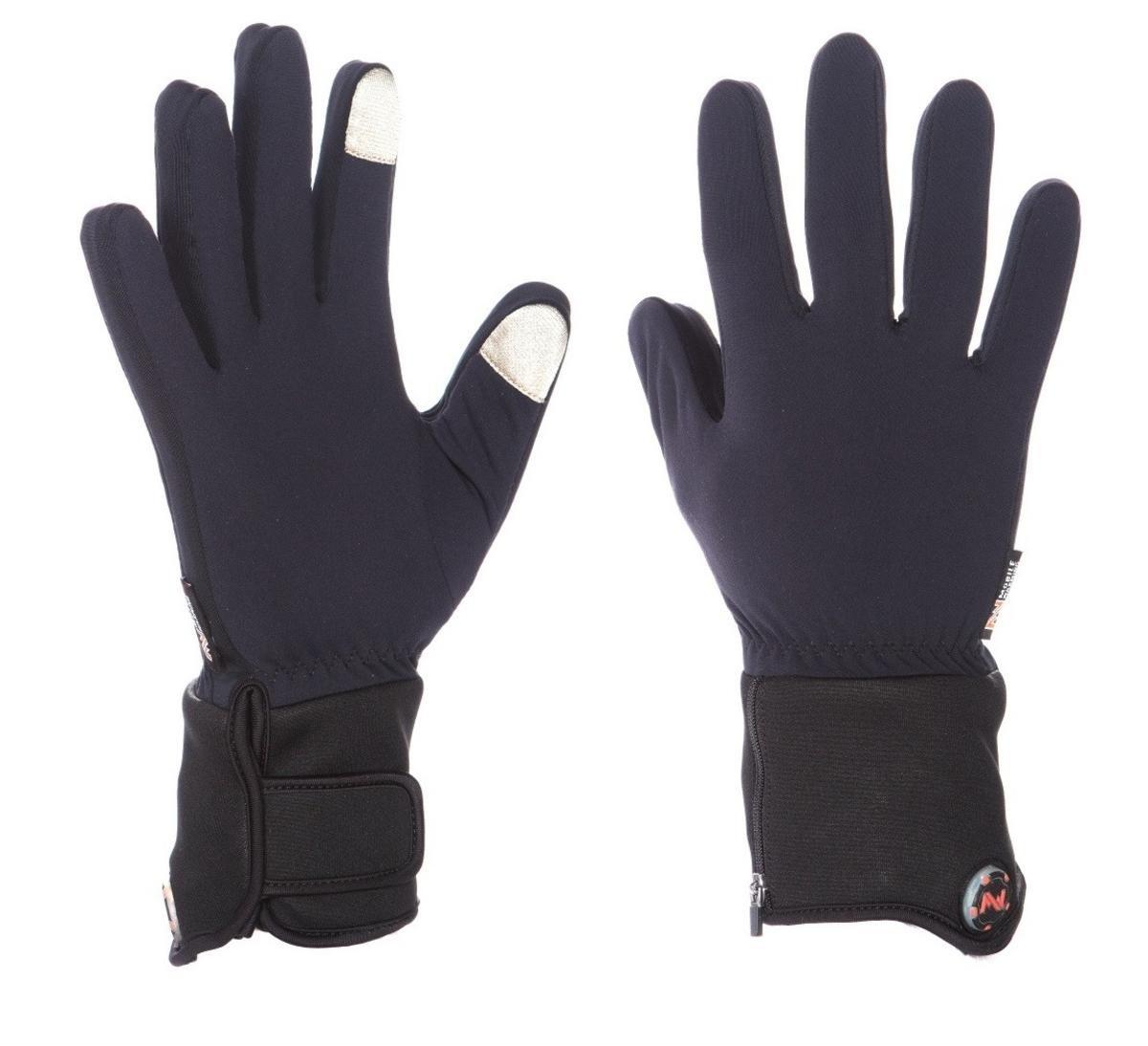 Mobile Warming Unisex-Adult Heated 7.4v Gloves Liner (Black, Small)