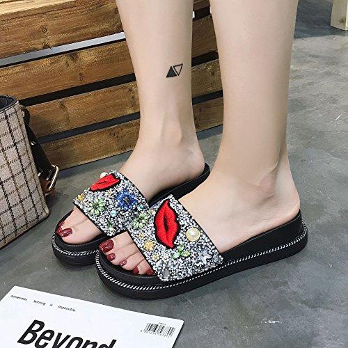 Slip Sandals Lap Flat White Non Summer Word Bottom Fashion Comfortable Women'S Cool Anti Thick Wear Leisure Outside Hundred A Bottom Female Slip Slippers 6Ex1ndwF