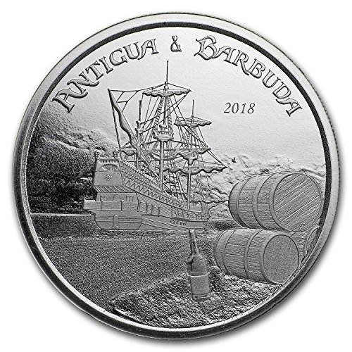 2018 Antigua & Barbuda 1 oz Silver Rum Runner BU 1 OZ Brilliant Uncirculated
