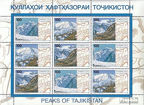 Tajikistan 109-111 Sheetlet (Complete.Issue.) 1997 Pamirgebirge (Stamps for Collectors) Landscapes