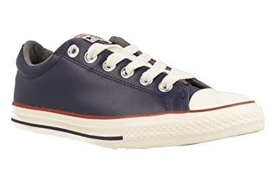 Converse Kids CT All Star Street Slip Midnight Navy Terra Red Leather Trainers 28.5 EU l0ND4qpbjO