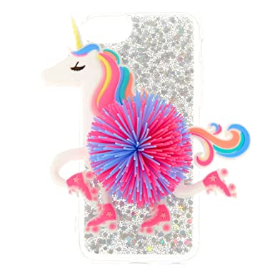 hot sale online bc791 8fa24 Claire's Girl's Roller Star Unicorn Phone Case Rainbow: Claire's ...