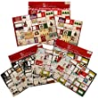 225 Holiday Christmas Gift Tag Stickers Foil Glitter To From Labels Bulk Lot